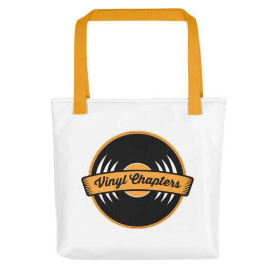 A Vinyl Chapters tote bag
