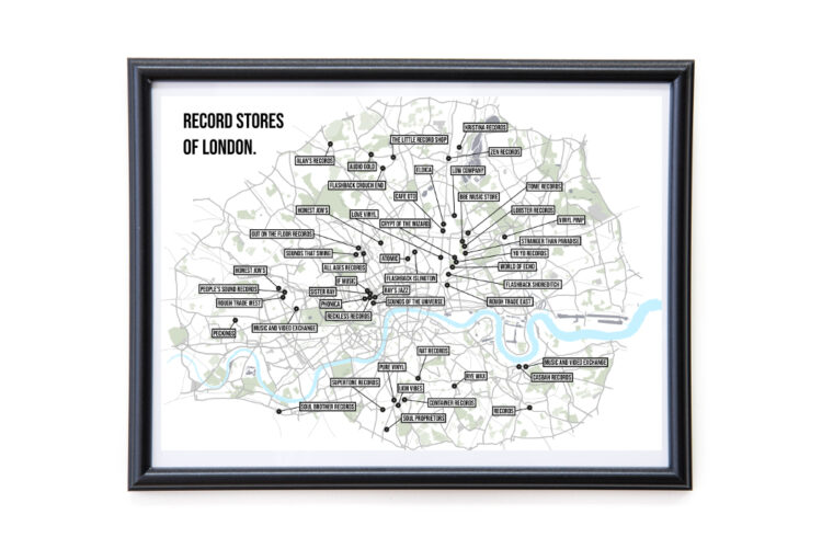 Map of London Vinyl Record Stores