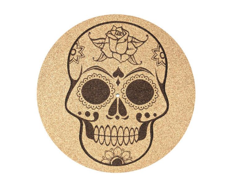 Skull Design Cork Platter Mat