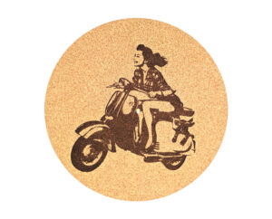 Scooter Girl Platter Mat Record Player