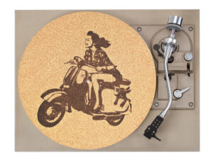 Scooter Girl Platter Mat Record Player