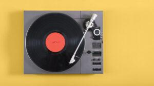 Record Player Orange